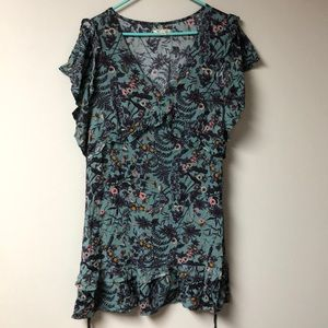 MIAMI LARGE SPRING EASTER FLORAL DRESS RUFFLES